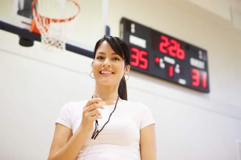 Female Coach Of High School Basketball Team