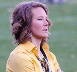 Becky Carlson Head Coach of Quinnipiac University's Women's Rugby Team