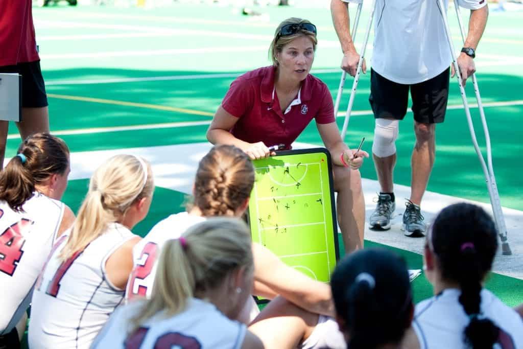 Stanford's Women's Field Hockey team Head Coach Tara Danielson