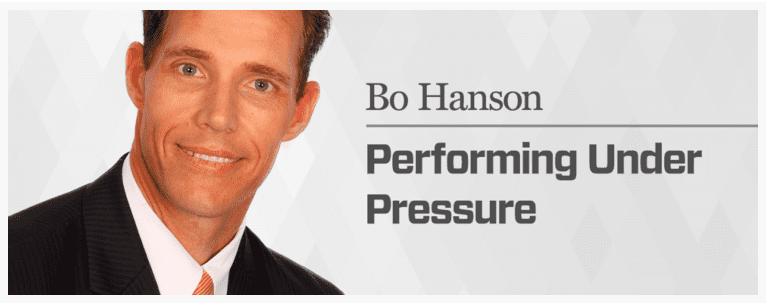 Bo Hanson Performing Under Pressure