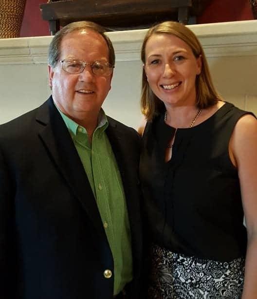 George Naughton with Liz Masen