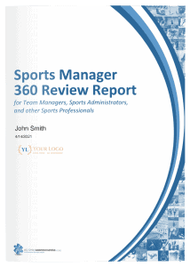 Sports Manager360 Review Report Cover
